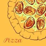 Vector neapolitan pizza Stock Photos
