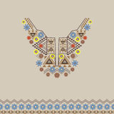 Vector neckline and border with ethnic and floral ornament. Modern bohemian style Royalty Free Stock Images