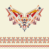 Vector neckline and borders design for fashion. Ethnic tribal neck print. Chest embellishment in boho style. Aztec ornaments Stock Photography