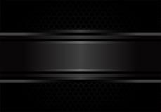 Vector negro abstracto del diseño del fondo del modelo del metal Imágenes de archivo libres de regalías