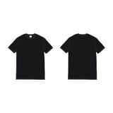 Vector negro de la camiseta del frente y de la parte posterior Imagen de archivo