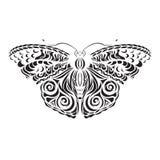 Vector negro de la mariposa Modelo en las alas Corte del laser stock de ilustración