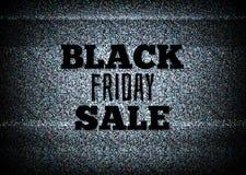 Vector negro de la venta de viernes del anuncio de televisión Fotografía de archivo