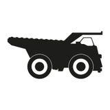 Vector negro de los iconos de la silueta del camión Icono negro en el fondo blanco Imagenes de archivo