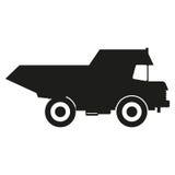 Vector negro de los iconos de la silueta del camión Icono negro en el fondo blanco Fotografía de archivo