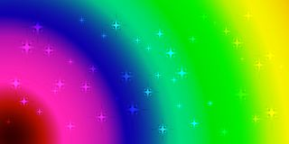 Vector neon background with rainbow circles. For the design of space themes or postcards Stock Images