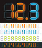 Vector neon digits Royalty Free Stock Photos
