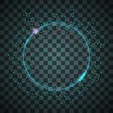 Vector neon frame. vector illustration