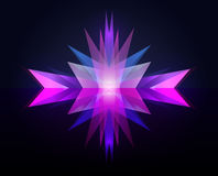 Vector neon geometric background. Royalty Free Stock Photography