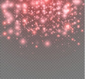 Vector neon glitter particles background effect for luxury greeting rich card. Sparkling blue texture. Star dust sparks in explosion on black background Royalty Free Stock Photo