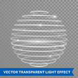 Vector neon light effect spiral globe sphere Stock Photography