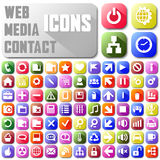 Vector neon mail web media contact Web buttons Stock Photos