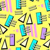 Vector neon pop background 80s, 90s. Vector illustration Stock Images