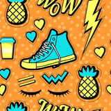 Vector neon pop background 80s, 90s. Vector illustration stock illustration