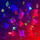 Vector neon texture of sea fish in the ocean. For fabrics or fish menu Stock Images