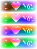 Vector neon valentine banner Royalty Free Stock Photography