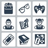 Vector nerd icons set Royalty Free Stock Photography