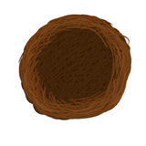 Vector nest. Isolated illustration graphic royalty free illustration