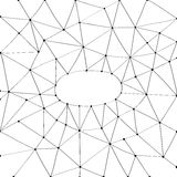 Vector net frame Stock Image