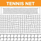 Vector neto del modelo del tenis Textura del voleibol La red de la corte aisló Inconsútil horizontal Trampa de la cuerda Juego de ilustración del vector