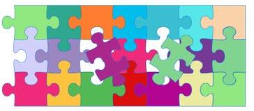 Vector netten Puzzlespielhintergrund Stockbild