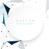 Vector network background abstract polygon Royalty Free Stock Image
