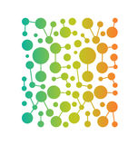 Network dots and lines image logo pattern Stock Photos