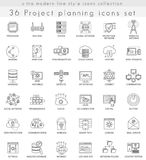 Vector Network technology ultra modern outline line icons for web and apps. Royalty Free Stock Image