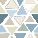 Vector neutraal gekleurd driehoeks naadloos patroon stock illustratie