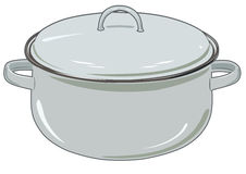 Vector new pan for kitchen Stock Photos