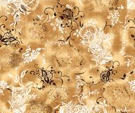 Vector new pattern brown rustic textures golden stock illustration
