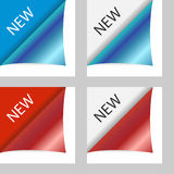 Vector new peeling corners Royalty Free Stock Photos
