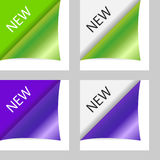Vector new peeling corners Royalty Free Stock Photo