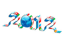 Vector new year 2012. Vector 3d illustration of new year 2012 Stock Photography