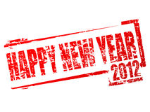 Vector new year 2012 stamp Stock Photo