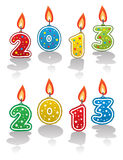 Vector new year 2013 candles. Vector design of new year 2013 candles royalty free illustration