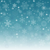 Vector new year background with snowflake Stock Images