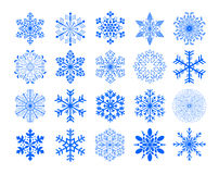 Vector new year background with snowflake Stock Photos