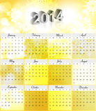 Vector 2014 new year calendar colorful design. Illustration vector illustration