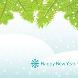 Vector New Year card Royalty Free Stock Photos