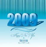 Vector new year card. New Year 2009 background with 3d figures royalty free illustration
