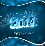 Vector 2014 new year card creative. Colorful background Stock Photos