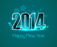Vector new year 2014 colorful greeting card design Stock Images