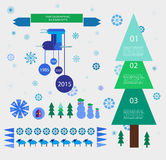 Vector New Year design elements Royalty Free Stock Image