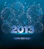 Vector new year fireworks. Vector new year 2013 illustration with fireworks royalty free illustration