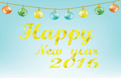 Vector - New Year 2016 font. Eps 10  file Royalty Free Stock Photos
