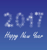 Vector 2017 new year. Vector illustration of 2017 new year background Royalty Free Stock Photos