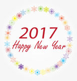 Vector 2017 new year. Vector illustration of 2017 new year background with wreath Stock Photography