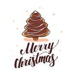 Vector New year and Merry Christmas congratulation design Stock Photos