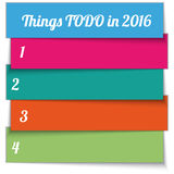Vector New Year Resolution multi color List Royalty Free Stock Images